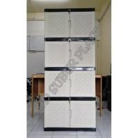 Harga best seller lemari plastik one layer susun 4 | Pembandingharga.com