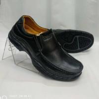 Sepatu Gats MP 2605 sepatu kerja pria bahan kulit warna hitam