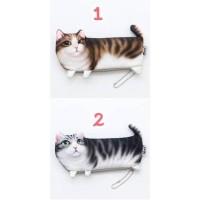 Produk Baru Soft Cloth Cute Cat Pencil Case / Tempat Pensil Kucing