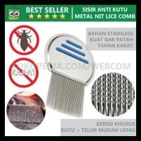 Metal Nit Lice Comp - Sisir Pembersih Kutu Rambut & Ketombe BIG SALE