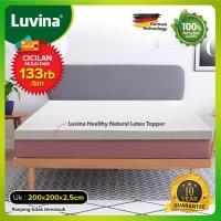 Luvina Kasur / Topper / Bed Kesehatan Natural Latex Uk 200x200x2,5cm