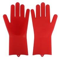 Sarung Tangan Sikat silicone motor oven dapur cuci piring Magic Glove