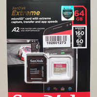 SANDISK MICROSD 64GB EXTREME A2 UP TO 160MB/S