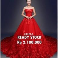 Gaun Pengantin Merah Murah