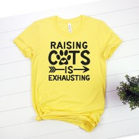 Kaos Pet Lover Raising Cats Is Exhausting T-Shirt