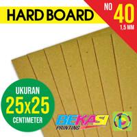 Karton Yellow Hard Board No. 40 ukuran 25 x 25 cm