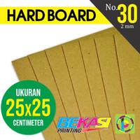 Karton Yellow Hard Board No. 30 ukuran 25 x 25 cm