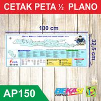 Cetak Peta Ukuran 1/2 Plano 32,5 x 100 cm ART PAPER 150 GSM
