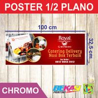 Cetak Poster Ukuran 1/2 Plano 32,5 x 100 cm Sticker Chromo / Glossy