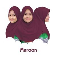 JA026 - Jilbab Afrakids | Maroon | Ukuran S