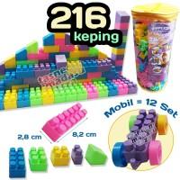 Mainan Edukasi Blocks Lego Bricks 216 PCS - Balok Susun