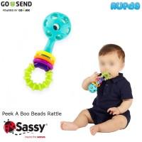 Sassy Peek A Boo Beads Rattle Mainan Bayi Berbunyi