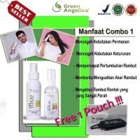Paket obat rambut tipis & rontok by green angelica asli 100% bpom..