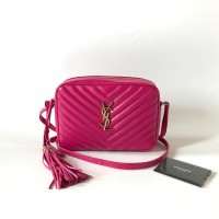 5ef3f67ee3 TAS YVES SAINT LAURENT ORIGINAL - YSL MEDIUM LOU CAMERA FREESIA c