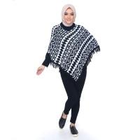 PONCO MAROKO Okechuku Knit Outer Sweater Rajut Wanita Fashion Korea