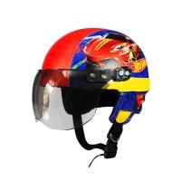 SPECIAL Helm Anak Cowok Retro Hotwheels