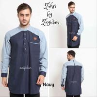 Baju Koko Gamis Pria BEST QUALITY ZAYIDAN - Zahir - Navy