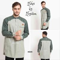 Baju Koko Gamis Pria Zahir - Best Quality Zayidan - Mint