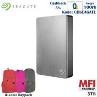 Seagate Backup Plus Portable Harddisk Eksternal 5TB - Silver + DP [FS]