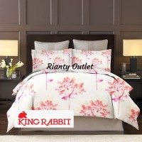 Full Set Bedcover Single - Sprei 120 - T40 - Lilly Valley Pink