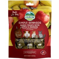 oxbow baked treats with apple and banana for small animals (85 g)