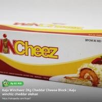 Keju Wincheez 2Kg Cheddar Cheese Block | Keju winchiz cheddar olehan