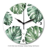 Jam Dinding MONSTERA - NYA Wall Clock - Uk.30X30 CM - Sweep Movement
