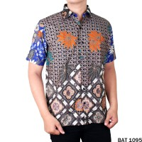 Harga baju etnik motif batik pendek reguler fit bat   antitipu.com