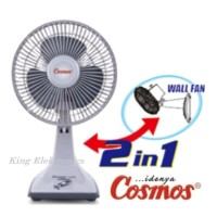 Harga ready cosmos kipas angin meja dinding desk wall fan 7 inch 7kdu | Pembandingharga.com