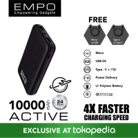EMPO ACTIVE 10000mAh Power Bank Quick Charge 3.0 + PD Power Delivery B