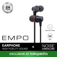 EMPO ECHO Earphone Noise Cancelling (HITAM)