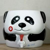 Tempat Guci Galon Air Minum, Guci Galon, Guci Keramik Motif Panda Lucu