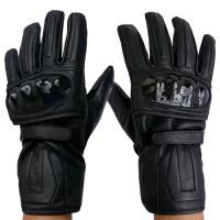 Harga otomotif sarung tangan kulit full hitam grosiran | antitipu.com