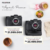 Harga fujifilm x h1 xh1 mirrorless body only vertical grip xf 35mm f1 | Pembandingharga.com