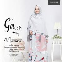 Gamis Maxmara Motif Set Hijab Instan Polos Ori Haihai GM38 Gamis Syari