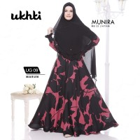 Gamis Wanita Satin Silk Motif Original Ukhti UG 09 Gamis Busui Syari