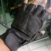 Harga termurah sarung tangan kulit half sepeda motor harga terjangkau | antitipu.com