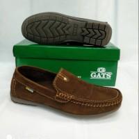 Sepatu kulit casual pria Gats hk 0003 brown original