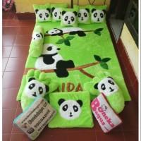 Karpet Karakter Panda Full Set Warna Hijau Limited