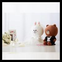Produk Terbatas Boneka Line (Brown Cony Wedding Edition) 30Cm Terbatas