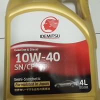 Oli Mesin Mobil Idemitsu 10W-40 SN/CF Gold 4 Liter Japan ONDERDIL