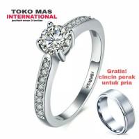 cincin berlian eropa emas 75% natural diamond original carthier mewah!