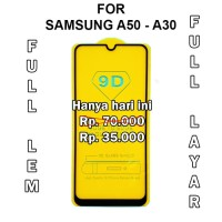 TEMPERED GLASS Samsung A50 - A30 - A10 anti gores screen guard full 5D