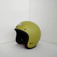 Helm ZEUS Retro ZS-385 Matt Green Olive (B) SIZE