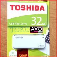flashdisk fd toshiba 32 gb original yamabiko slide garansi resmi