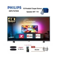 PHILIPS 65PUT6703S Ambilight 4K HD Smart TV Ultra Tipis