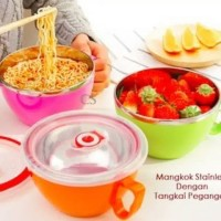 KOREAN FRESH BOWL / MANGKOK MAKAN STAINLESS TAHAN PANAS + TUTUP