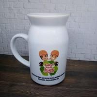 Mug Susu Cetak Custom, Milky mug souvenir mug unik