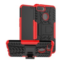 Case Oppo A5S Rugged Armor Stand Hardcase +Softcase Cover