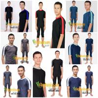 ukuran M-XL Baju renang laki-laki pria dewasa diving panjang